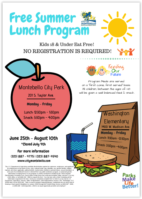 free summer lunch full